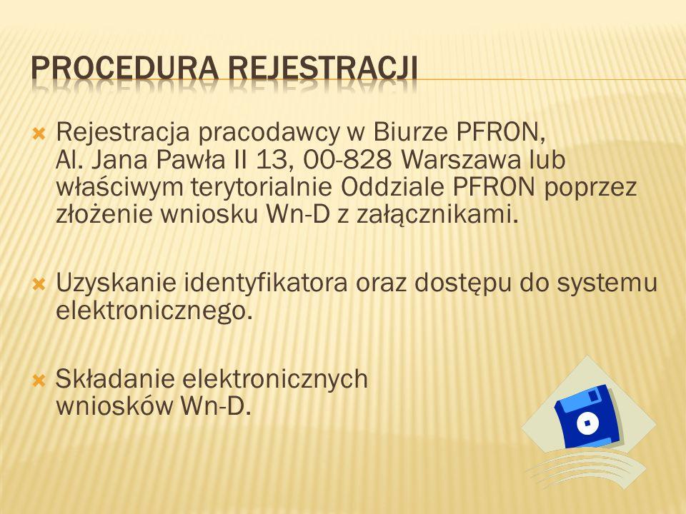  Rejestracja pracodawcy w Biurze PFRON, Al.