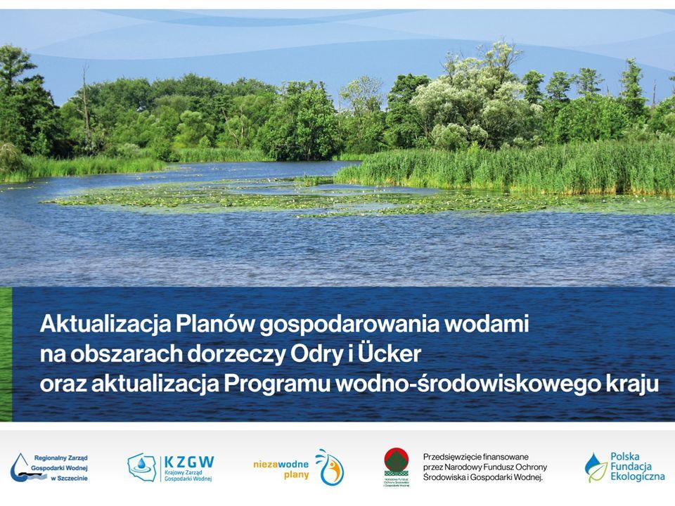 24 JCWP jezior – 21% oceniono na podstawie badań monitoringowych stan dobry: 3 JCWP (34%) stan zły: 21 JCWP (66%) 4 JCWP przejściowe w stanie złym (100%) 4 JCWP przybrzeżne w stanie złym (100%) aPGW dla obszaru dorzecza Odry - podsumowanie znaczących oddziaływań i wpływów antropogenicznych – ocena ryzyka niespełnienia celów środowiskowych