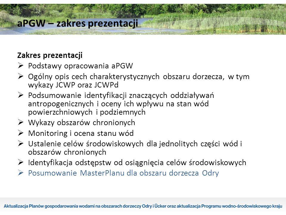  Badania stanu JCWP realizowane są w ramach monitoringu diagnostycznego, operacyjnego, badawczego i obszarów chronionych (zgodnie z załącznikiem V RDW ); diagnostyczny w celu ogólnej oceny stanu JCWP, uzupełnienia i zatwierdzenie oceny oddziaływań antropogenicznych na stan wód oraz ocena długoterminowych zmian jakości wód, operacyjny w celu oceny stanu JCWP, które uznano za zagrożone niespełnieniem celów środowiskowych, a także dokonania oceny krótkoterminowych zmian stanu wynikających z realizacji programów naprawczych, badawczy w celu określenia wpływu zanieczyszczeń awaryjnych i wyjaśnienia przyczyn niespełnienia celów środowiskowych, obszarów chronionych w celu ustalenia stanu JCWP występujących na obszarach chronionych, spełnienia dodatkowych wymagań dla tych obszarów, oceny wpływu presji oraz oceny zmiany stanu JCWP wynikającej z programów przyjętych dla poprawy jakości wód.
