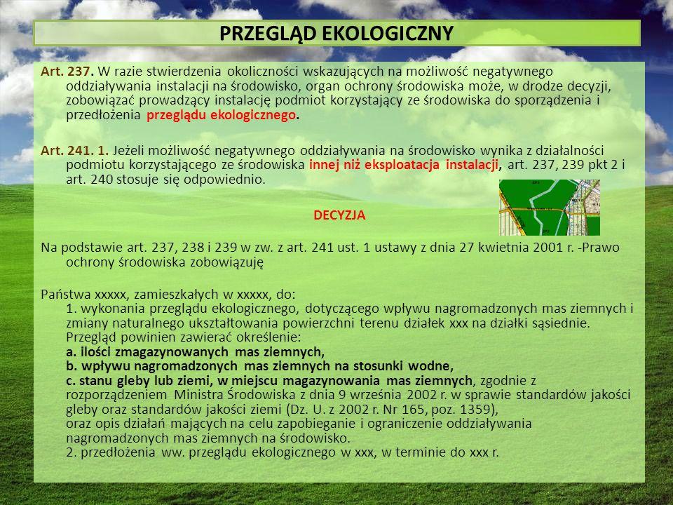 PRZEGLĄD EKOLOGICZNY Art. 237.