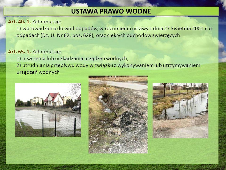 USTAWA PRAWO WODNE Art. 40. 1.