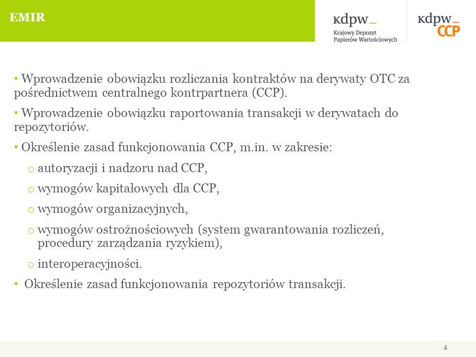 Planowane działania KDPW, m.in.