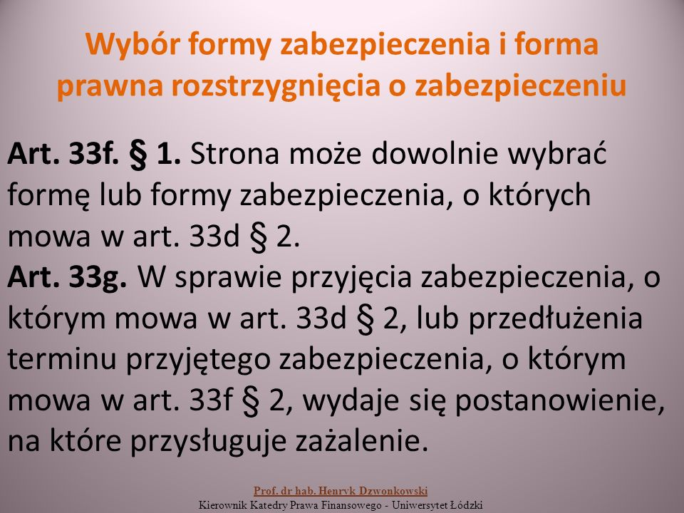 Wpis zastawu skarbowego Art.44. § 1.