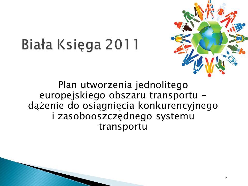 2 Plan utworzenia jednolitego europejskiego obszaru transportu – dążenie do osiągnięcia konkurencyjnego i zasobooszczędnego systemu transportu