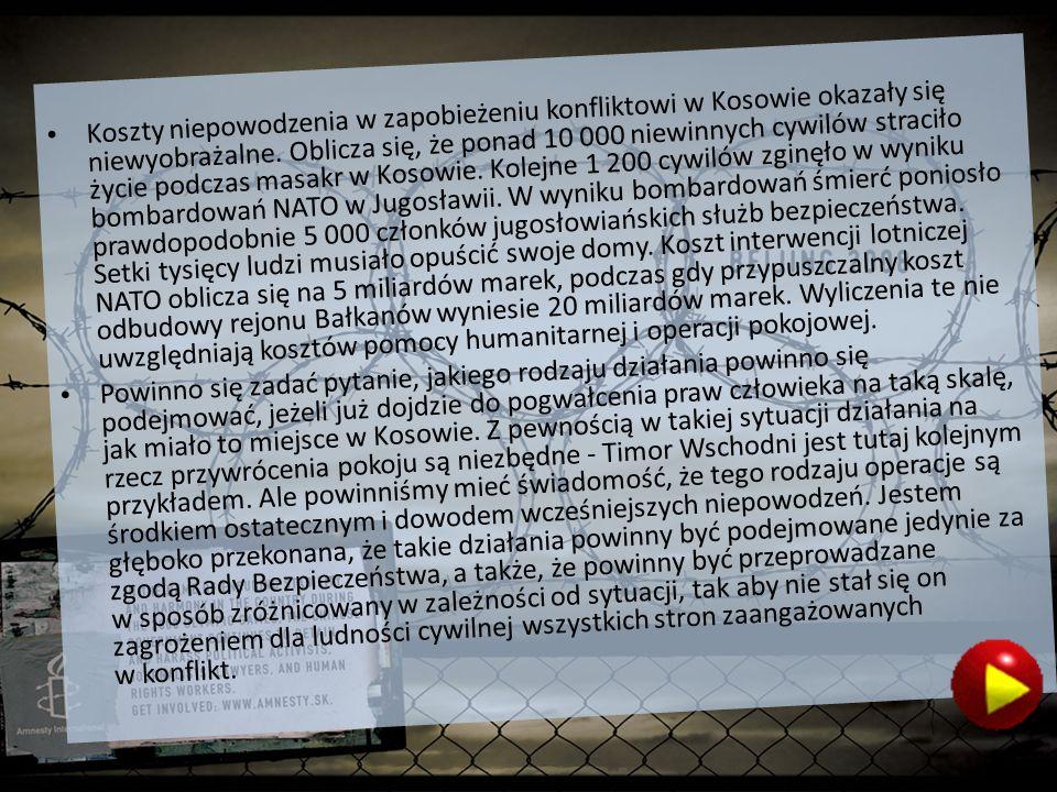 Koszty niepowodzenia w zapobieżeniu konfliktowi w Kosowie okazały się niewyobrażalne.