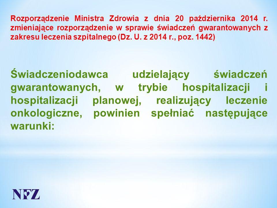 Rozporządzenie Ministra Zdrowia z dnia 20 października 2014 r.