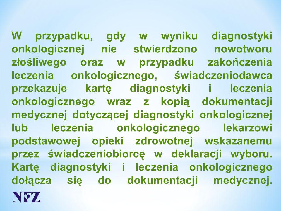 Odpowiedź: Lekarz z prywatnego gabinetu nie może wydać karty diagnostyki i leczenia onkologicznego.