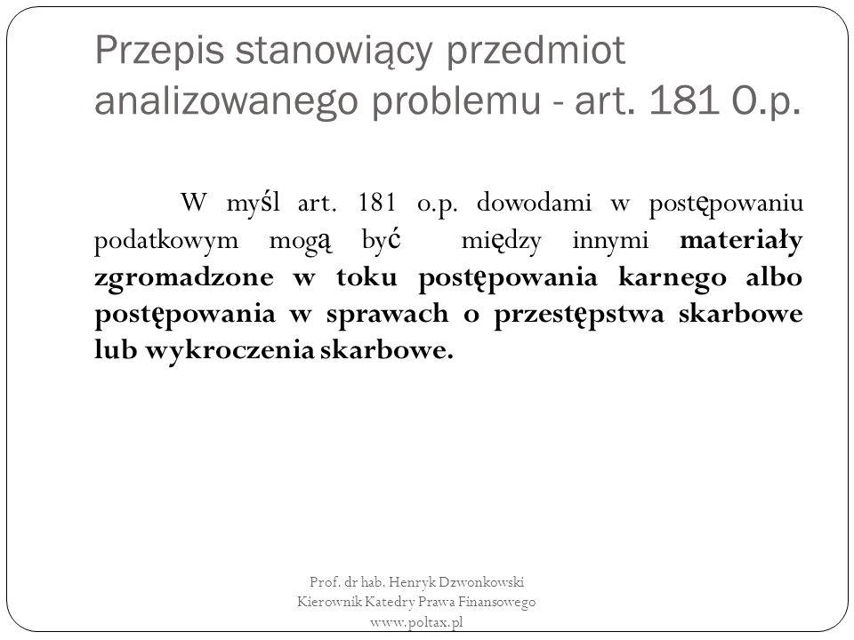 Przepis stanowiący przedmiot analizowanego problemu - art.