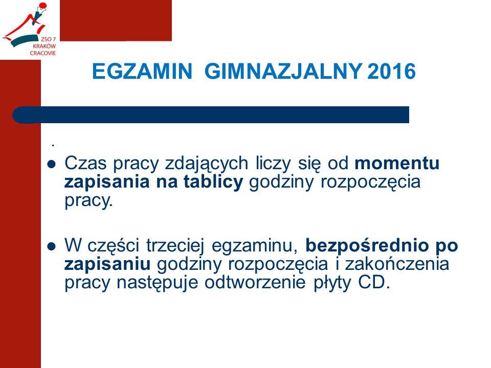 EGZAMIN GIMNAZJALNY 2016.