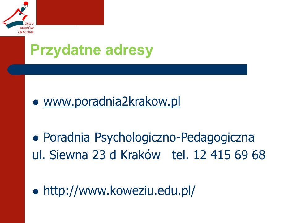 www.poradnia2krakow.pl Poradnia Psychologiczno-Pedagogiczna ul.