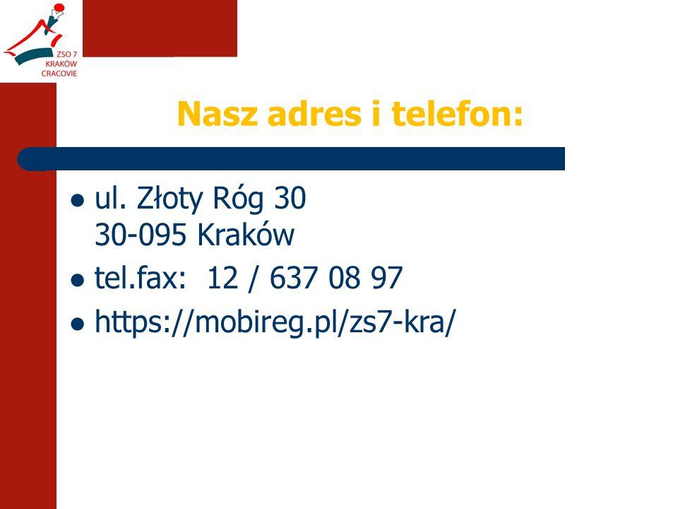 Nasz adres i telefon: ul.