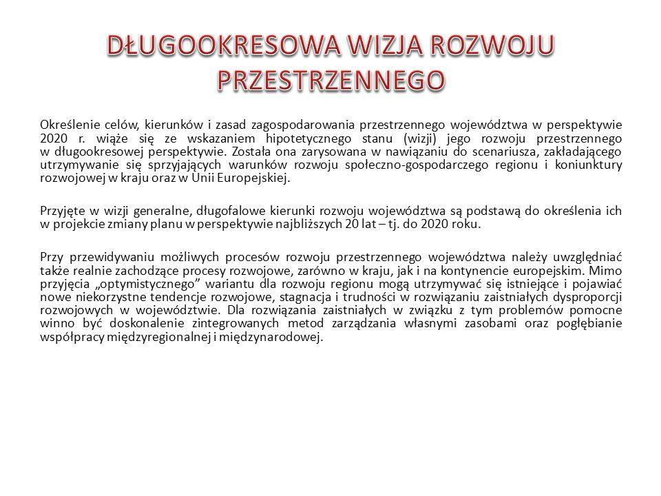 Określenie celów, kierunków i zasad zagospodarowania przestrzennego województwa w perspektywie 2020 r.