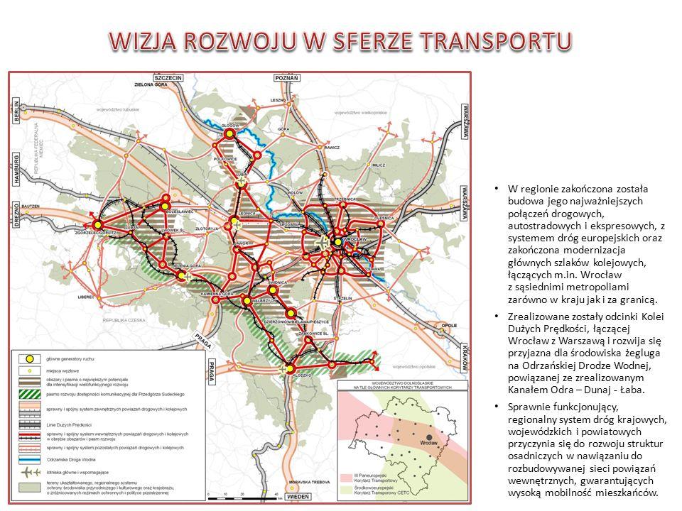 W regionie zakończona została budowa jego najważniejszych połączeń drogowych, autostradowych i ekspresowych, z systemem dróg europejskich oraz zakończona modernizacja głównych szlaków kolejowych, łączących m.in.
