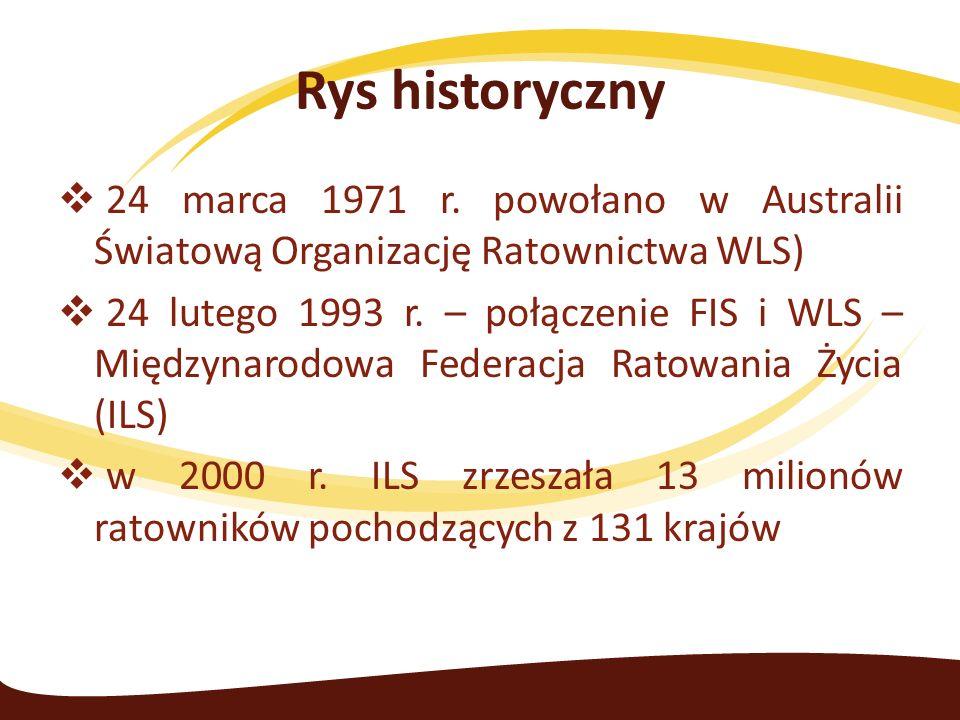  24 marca 1971 r. powołano w Australii Światową Organizację Ratownictwa WLS)  24 lutego 1993 r.