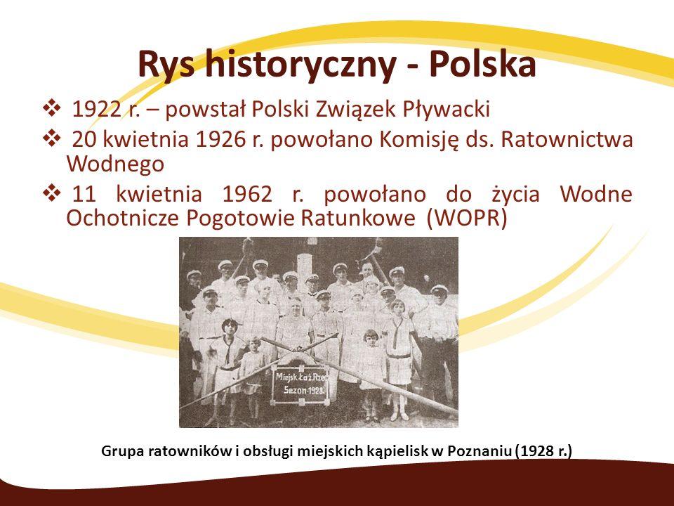  1922 r. – powstał Polski Związek Pływacki  20 kwietnia 1926 r.