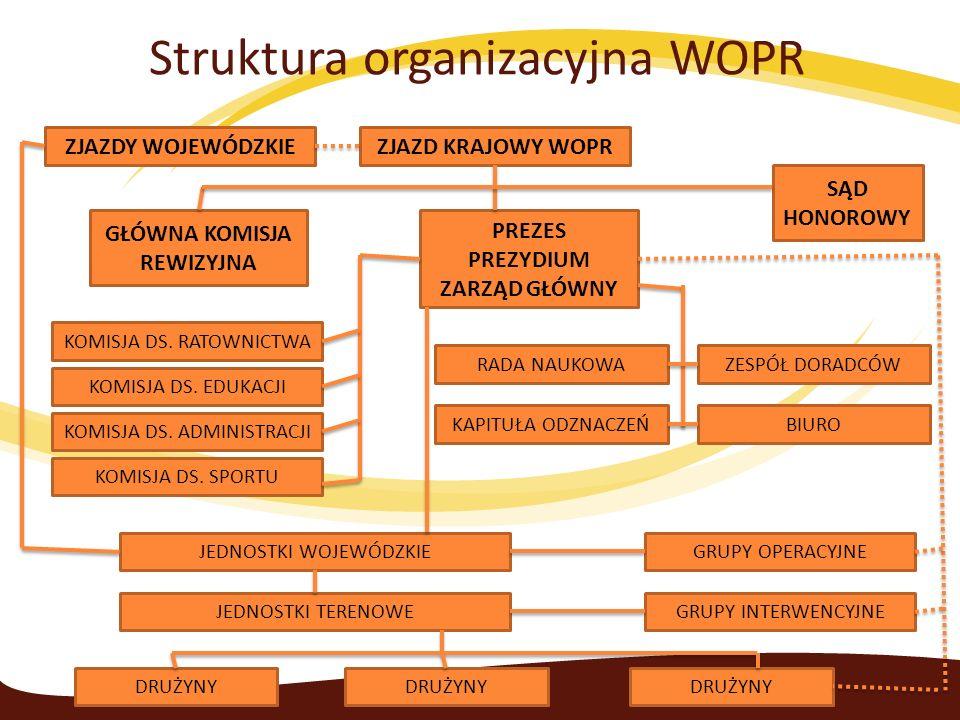 Struktura organizacyjna WOPR ZJAZDY WOJEWÓDZKIEZJAZD KRAJOWY WOPR GŁÓWNA KOMISJA REWIZYJNA KOMISJA DS.