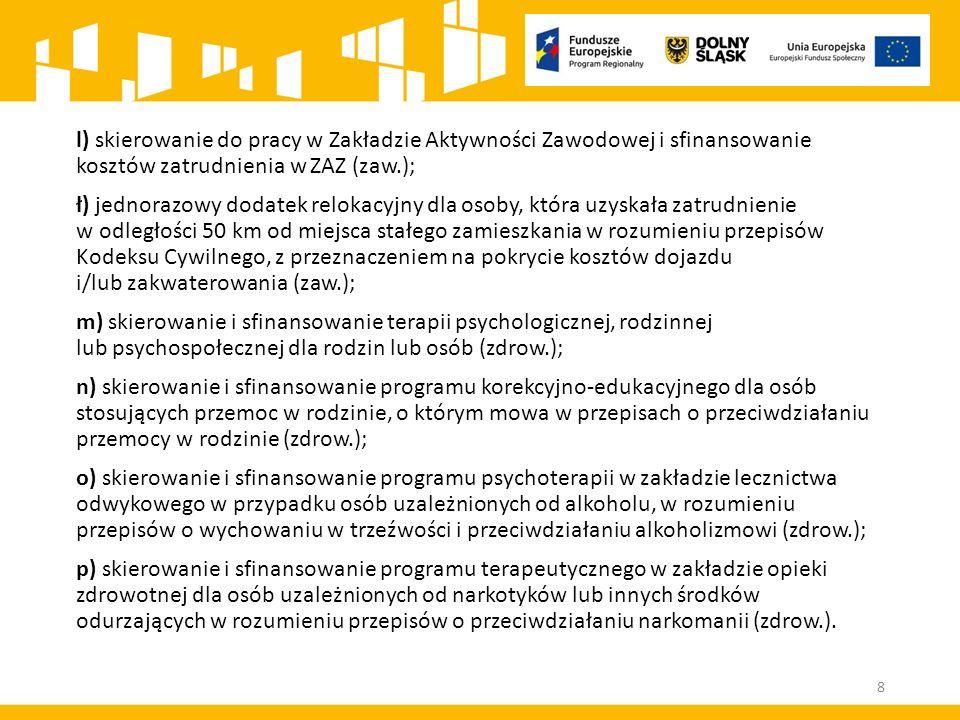 ROZSTRZYGNIĘCIE KONKURSU Po rozstrzygnięciu konkursu IOK zamieszcza na stronie internetowej: www.rpo.dwup.pl a w przypadku Poddziałania 9.1.3 także na stronach internetowych www.ipaw.walbrzych.eu oraz na portalu (nie później niż 7 dni od rozstrzygnięcia konkursu) listę projektów, które uzyskały wymaganą liczbę punktów, z wyróżnieniem projektów wybranych do dofinansowania, tj.