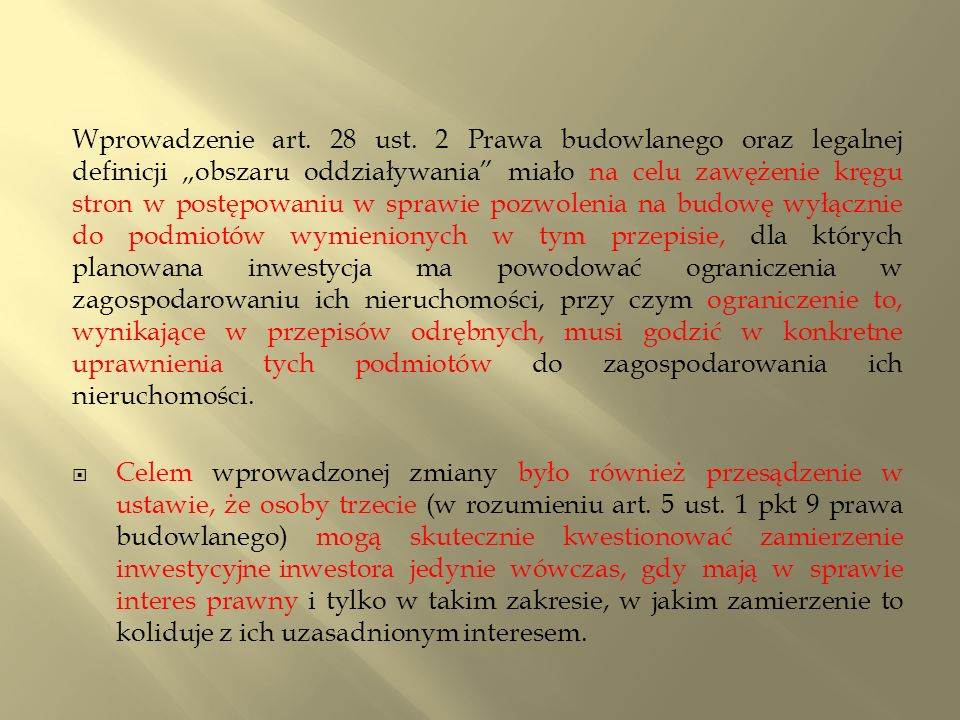 Wprowadzenie art. 28 ust.