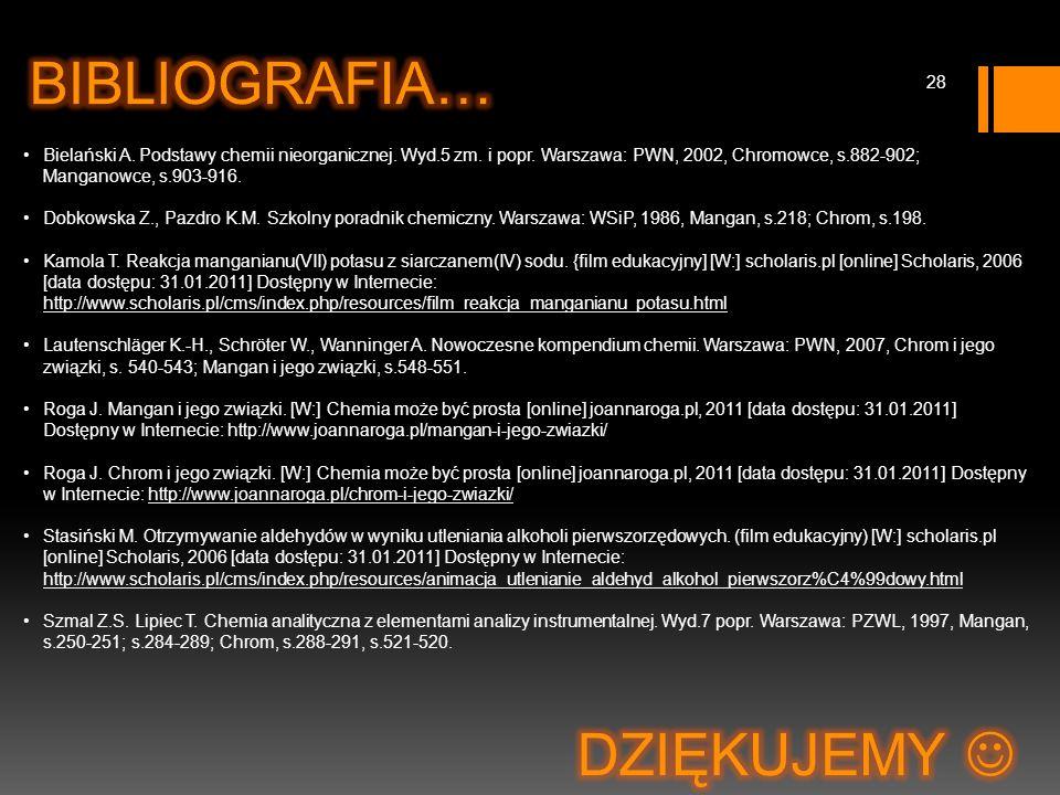 Bielański A. Podstawy chemii nieorganicznej. Wyd.5 zm.