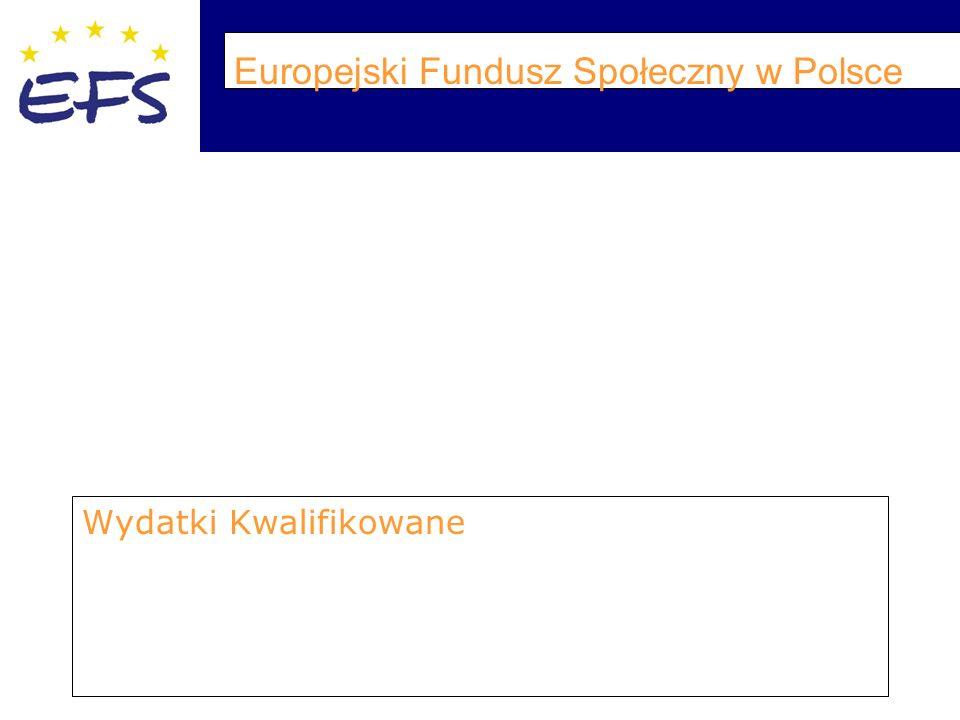 Europejski Fundusz Społeczny w Polsce Wydatki Kwalifikowane
