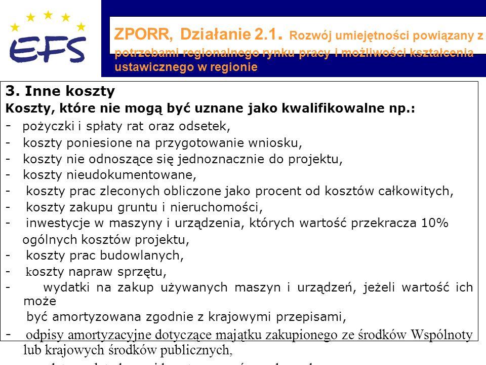 ZPORR, Działanie 2.1.