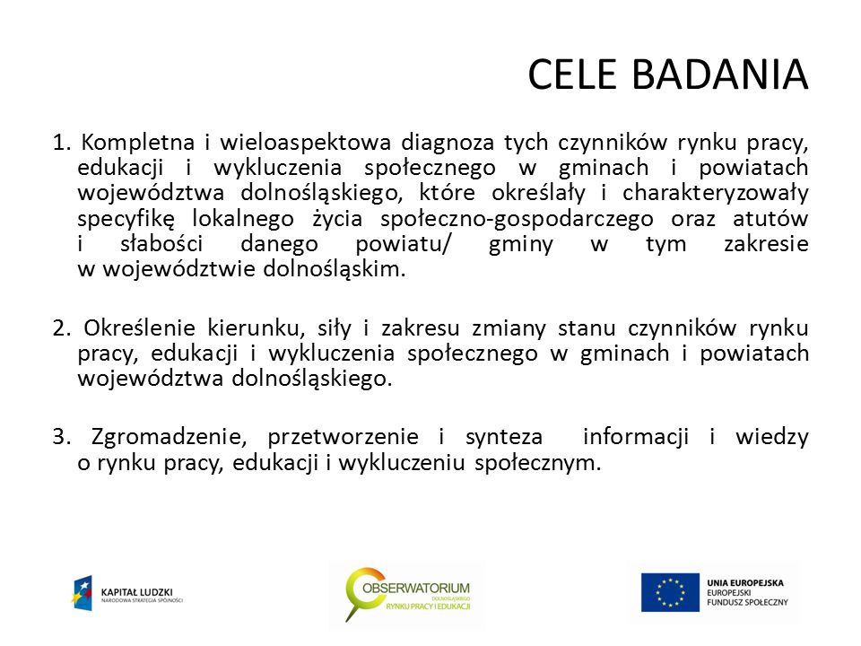 CELE BADANIA 1.