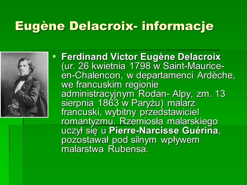 Eugène Delacroix- reprodukcje