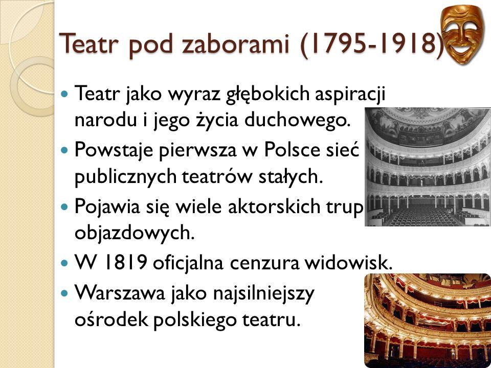Teatr jako wyraz głębokich aspiracji narodu i jego życia duchowego.