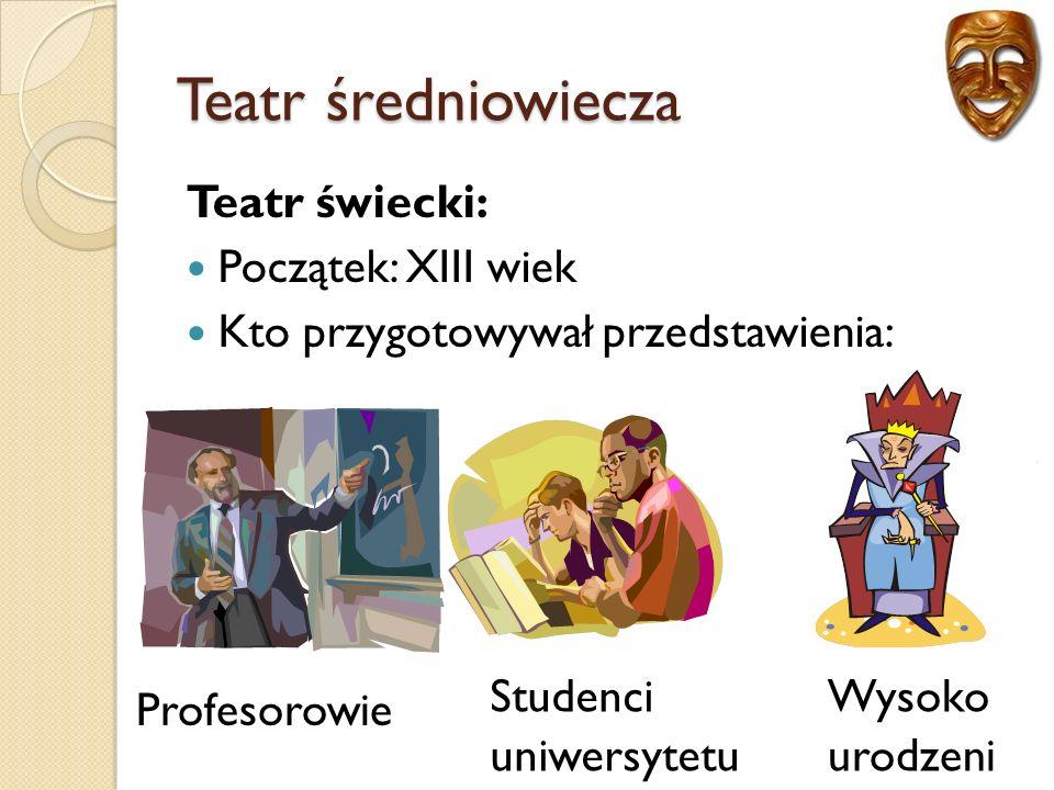 Teatr baroku Działalność władców Polski.