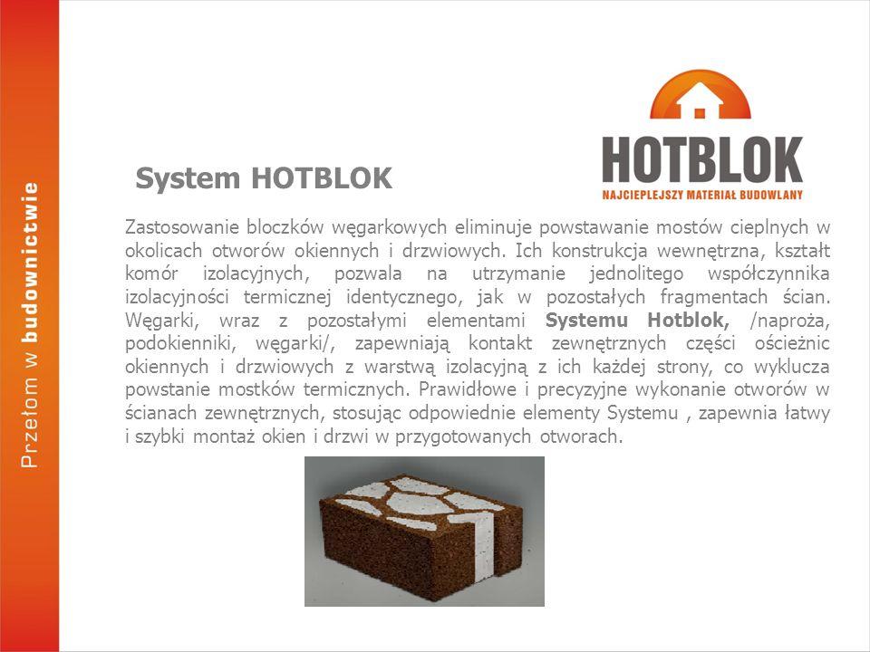 Zastosowanie bloczków węgarkowych eliminuje powstawanie mostów cieplnych w okolicach otworów okiennych i drzwiowych.