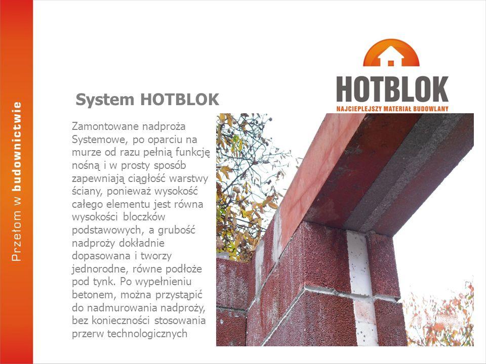 Zamontowane nadproża Systemowe, po oparciu na murze od razu pełnią funkcję nośną i w prosty sposób zapewniają ciągłość warstwy ściany, ponieważ wysokość całego elementu jest równa wysokości bloczków podstawowych, a grubość nadproży dokładnie dopasowana i tworzy jednorodne, równe podłoże pod tynk.