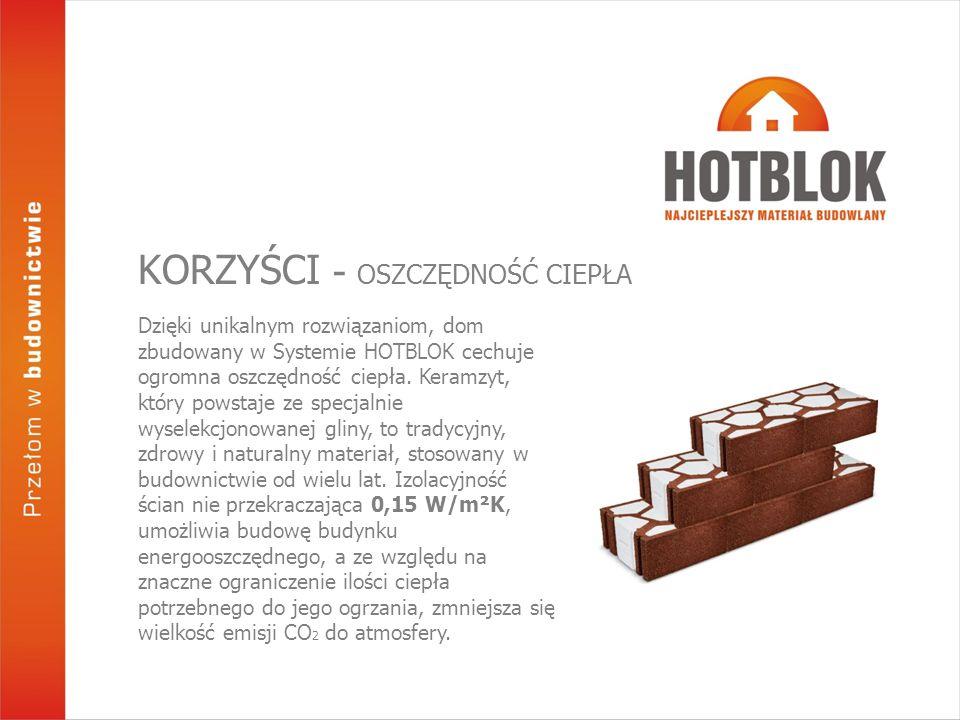 Dzięki unikalnym rozwiązaniom, dom zbudowany w Systemie HOTBLOK cechuje ogromna oszczędność ciepła. Keramzyt, który powstaje ze specjalnie wyselekcjon