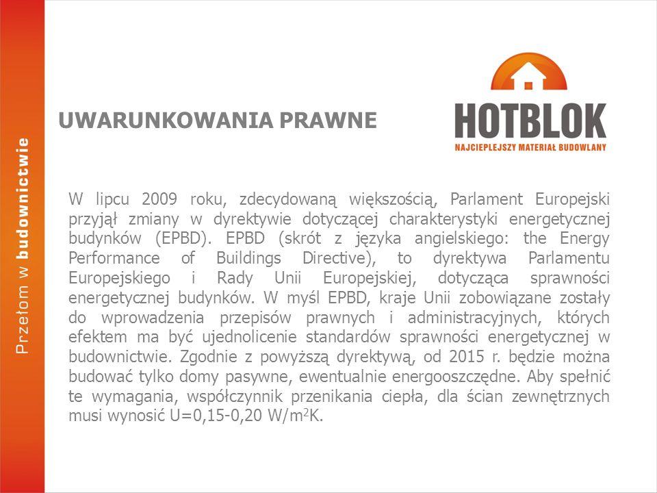 W lipcu 2009 roku, zdecydowaną większością, Parlament Europejski przyjął zmiany w dyrektywie dotyczącej charakterystyki energetycznej budynków (EPBD).