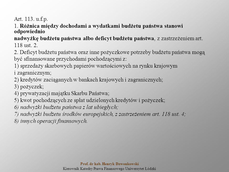 Art. 113. u.f.p. 1.