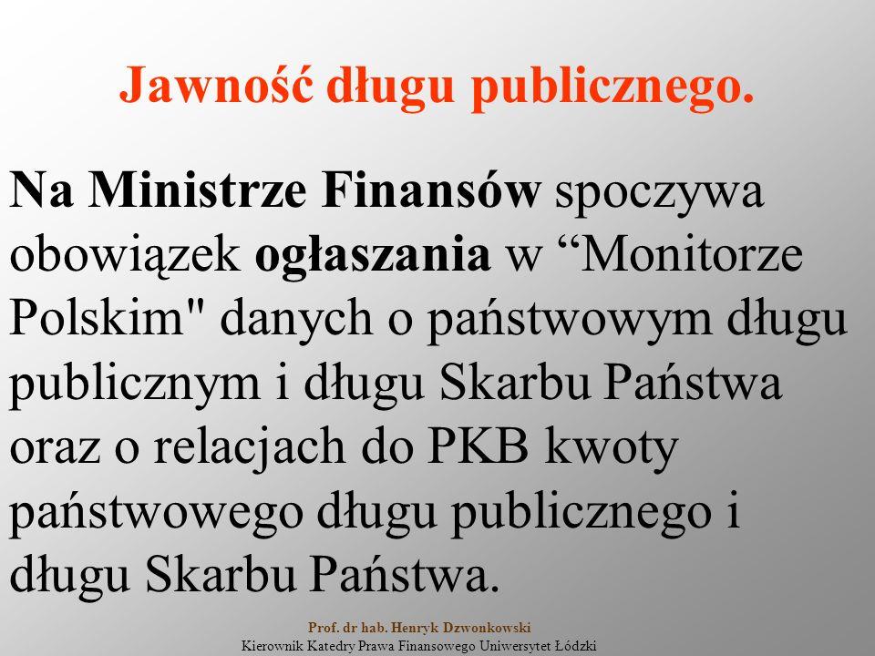 """Jawność długu publicznego. Na Ministrze Finansów spoczywa obowiązek ogłaszania w """"Monitorze Polskim"""