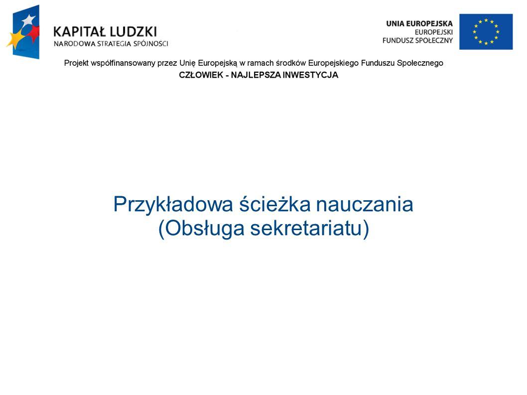 Przykładowa ścieżka nauczania (Obsługa sekretariatu)
