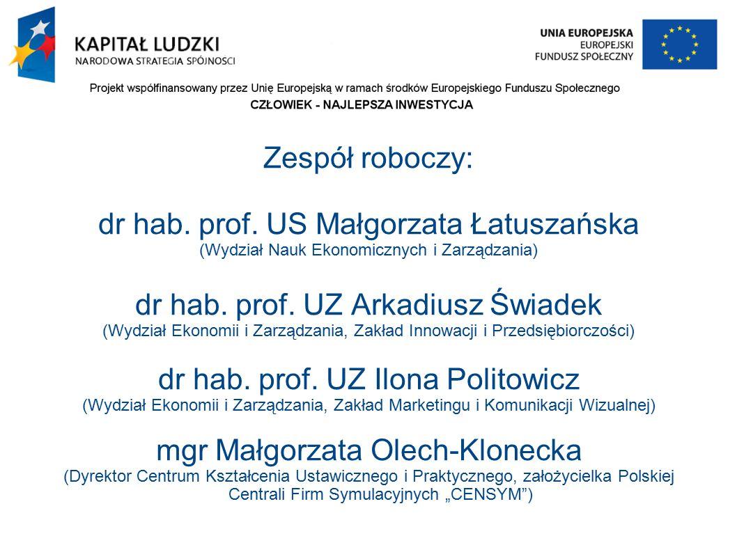 Zespół roboczy: dr hab. prof.