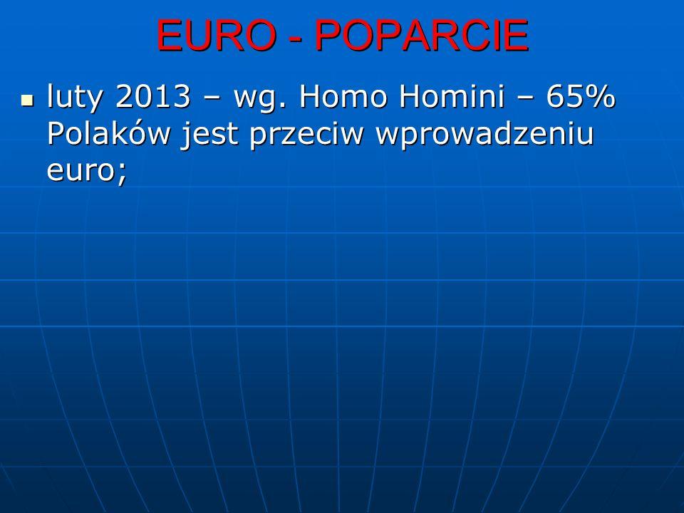 EURO - POPARCIE luty 2013 – wg.