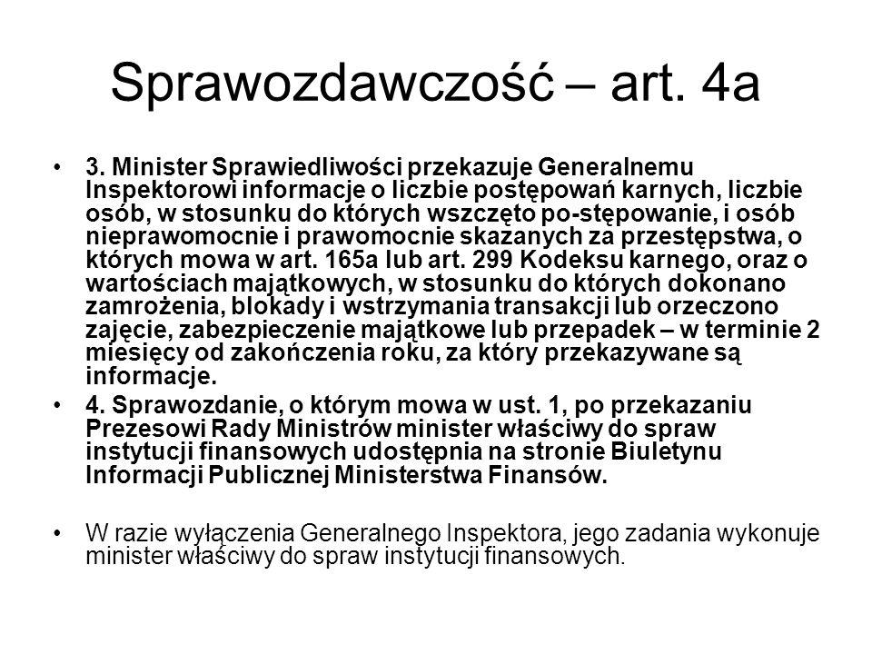 Sprawozdawczość – art.4a 3.