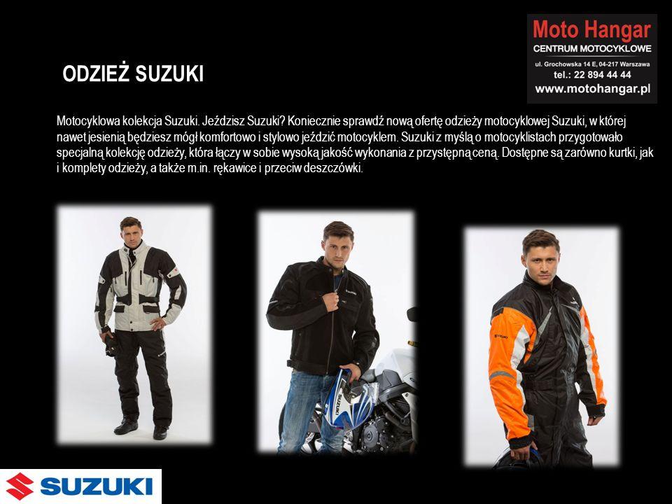 Motocyklowa kolekcja Suzuki. Jeździsz Suzuki? Koniecznie sprawdź nową ofertę odzieży motocyklowej Suzuki, w której nawet jesienią będziesz mógł komfor