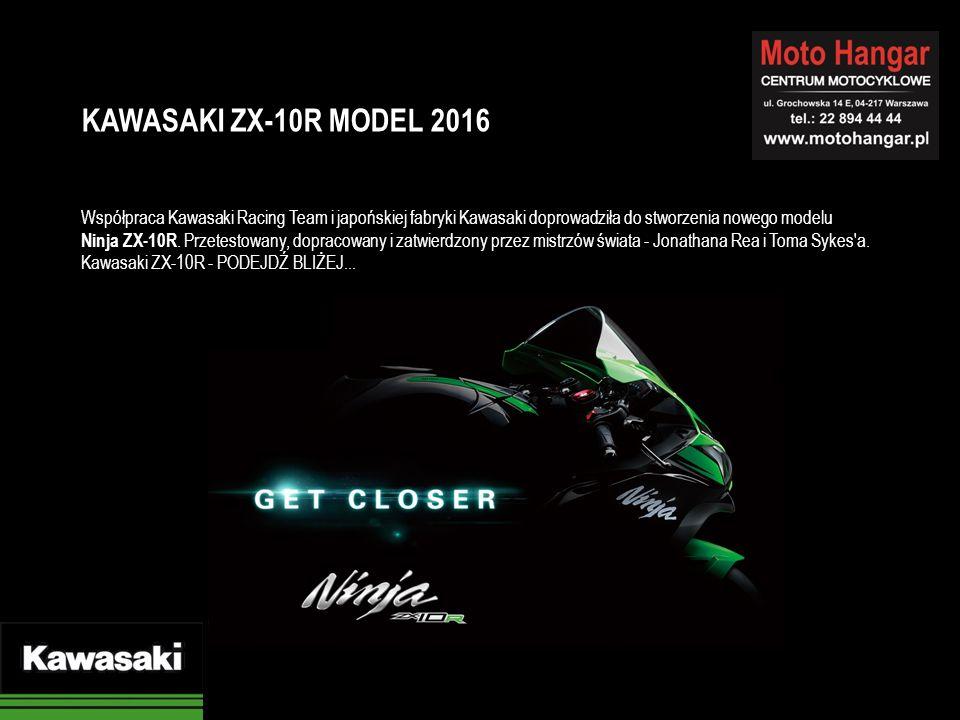 Współpraca Kawasaki Racing Team i japońskiej fabryki Kawasaki doprowadziła do stworzenia nowego modelu Ninja ZX-10R. Przetestowany, dopracowany i zatw