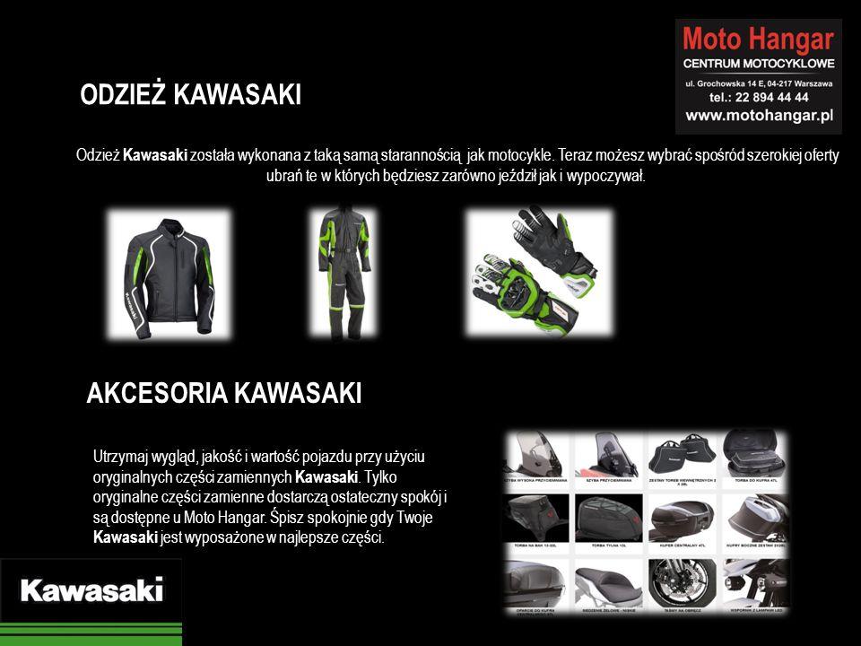 Odzież Kawasaki została wykonana z taką samą starannością jak motocykle. Teraz możesz wybrać spośród szerokiej oferty ubrań te w których będziesz zaró
