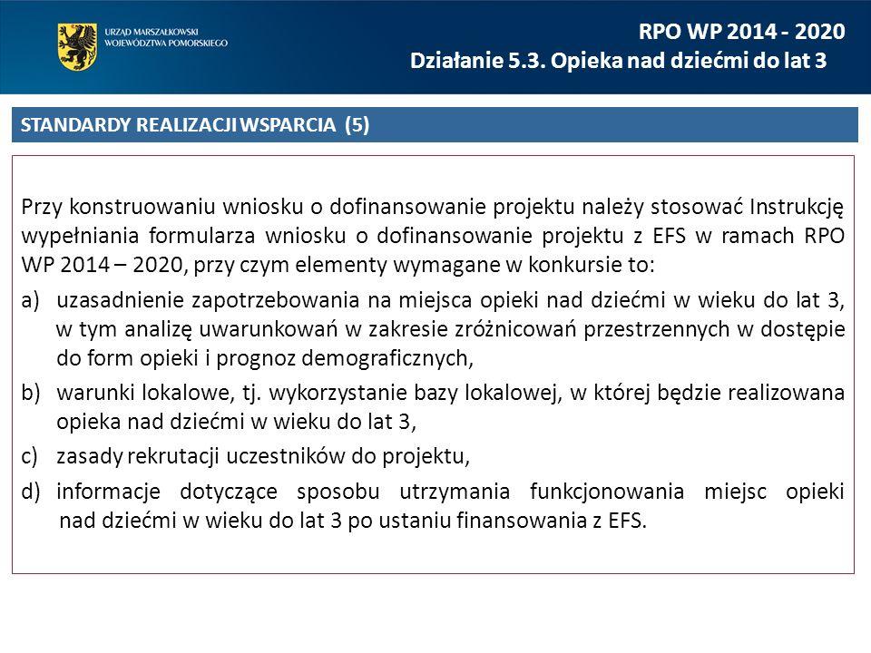 Przy konstruowaniu wniosku o dofinansowanie projektu należy stosować Instrukcję wypełniania formularza wniosku o dofinansowanie projektu z EFS w ramac