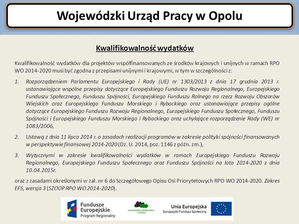 Kwalifikowalność wydatków dla projektów współfinansowanych ze środków krajowych i unijnych w ramach RPO WO 2014-2020 musi być zgodna z przepisami unijnymi i krajowymi, w tym w szczególności z: 1.Rozporządzeniem Parlamentu Europejskiego i Rady (UE) nr 1303/2013 z dnia 17 grudnia 2013 r.
