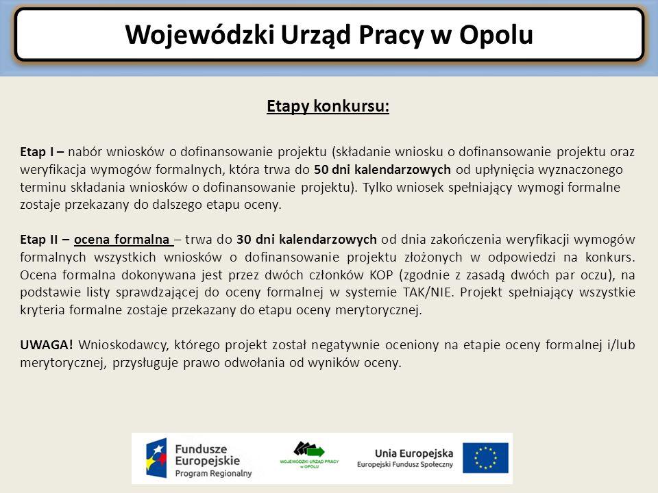 Wojewódzki Urząd Pracy w Opolu Koszty związane z angażowaniem personelu c.d.