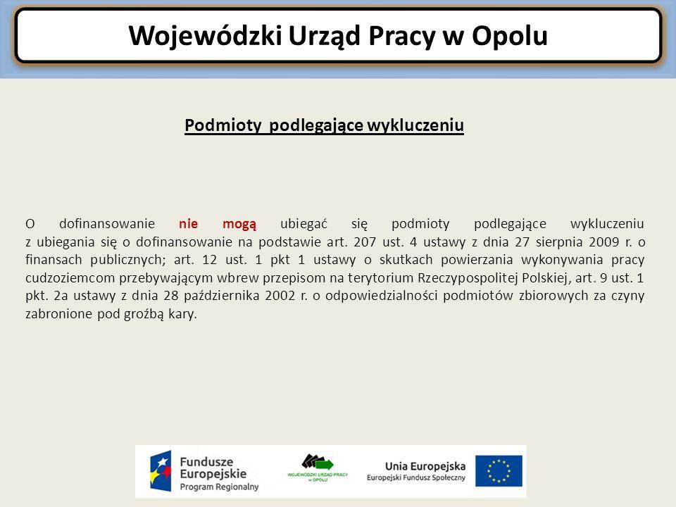 Wojewódzki Urząd Pracy w Opolu Poziom dofinansowania Wartość dofinansowania w ramach Regionalnego Programu Operacyjnego Województwa Opolskiego na lata 2014-2020 dla działania 9.2.1 Wsparcie kształcenia zawodowego wynosi w łącznej kwocie 6 300 000,00 1, w tym 5 950 000,00 Euro pochodzące z Europejskiego Funduszu Społecznego, natomiast 350 000,00 Euro z Budżetu Państwa.