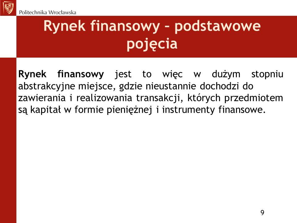 Podstawowe pojęcia 10 Instrument finansowy (ang.