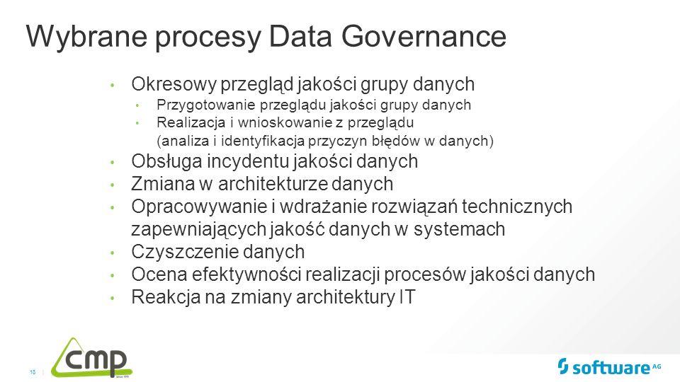 18 | Okresowy przegląd jakości grupy danych Przygotowanie przeglądu jakości grupy danych Realizacja i wnioskowanie z przeglądu (analiza i identyfikacj