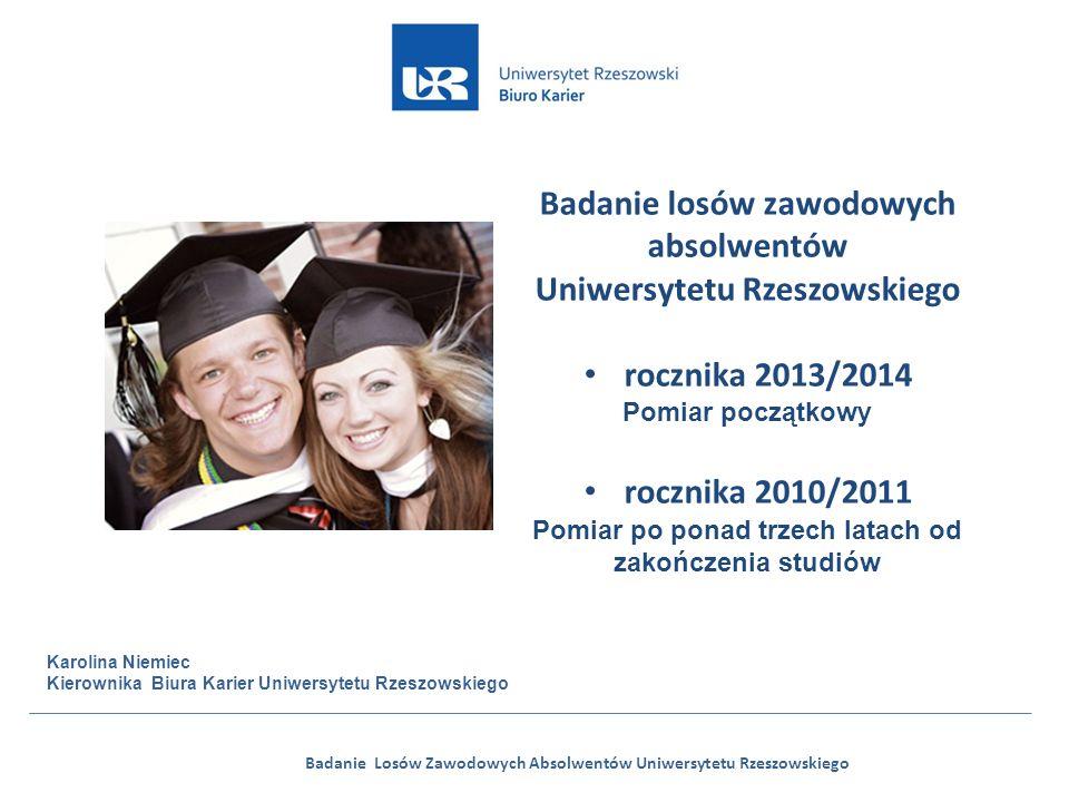 Badanie Losów Zawodowych Absolwentów Uniwersytetu Rzeszowskiego Badanie losów zawodowych absolwentów Uniwersytetu Rzeszowskiego rocznika 2013/2014 Pom