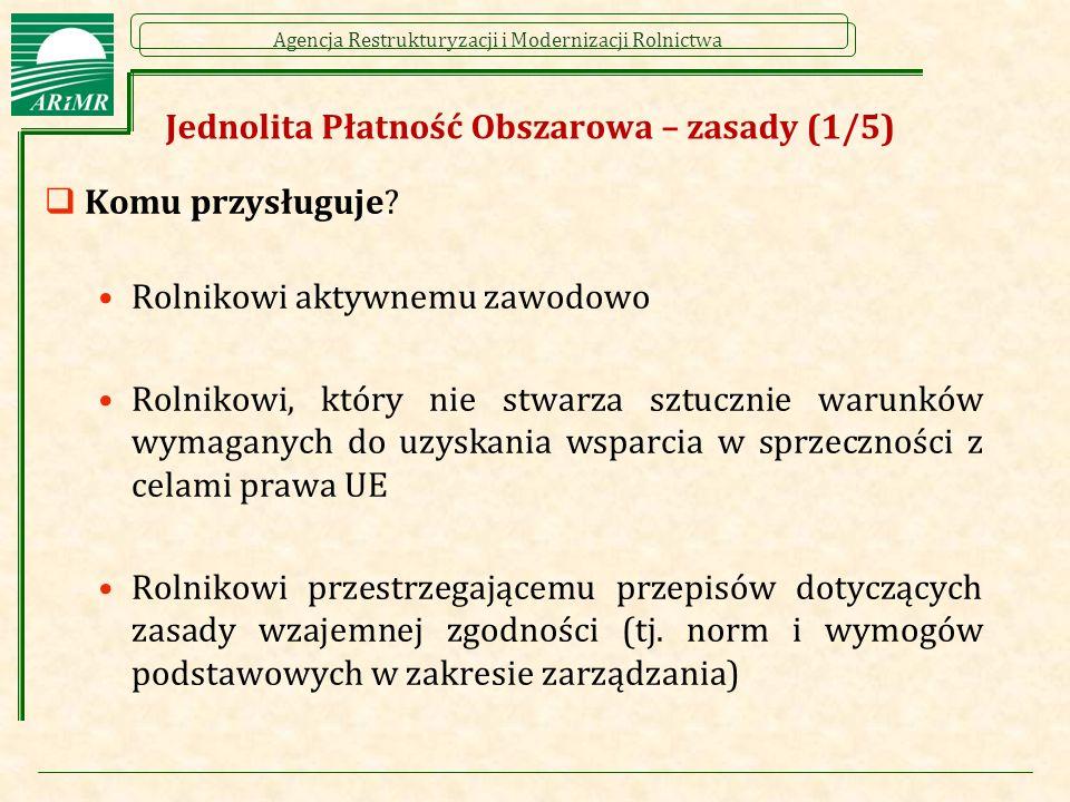 """Agencja Restrukturyzacji i Modernizacji Rolnictwa Rolnik aktywny zawodowo (wprowadzenie)  Zasada działania definicji:  Zasada ta sprowadzać się będzie do tego, że rolnik, który nie spełni wymogów określonych w definicji zostanie wykluczony w danym roku z wszystkich płatności bezpośrednich, a w przypadku niektórych działań PROW 2014-2020 uznany zostanie za rolnika nie spełniającego kryteriów kwalifikowalności lub warunków otrzymania wsparcia  W przypadku rolników ubiegających się o płatności bezpośrednie w 2015 r., każdy beneficjent wsparcia bezpośredniego, który w roku 2014 otrzymał łączną kwotę płatności bezpośrednich (z wyłączeniem przejściowego wsparcia krajowego) nie równowartość w złotych kwoty 5000 euro (przed uwzględnieniem zmniejszeń i wykluczeń), zostanie """"automatycznie uznany za rolnika aktywnego zawodowo  Za rok 2014 – równowartość kwoty 5000 euro wynosi 20 888 zł"""